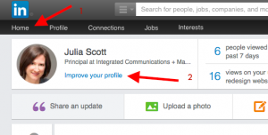 How to find LinkedIn's automated profile improvement tool.